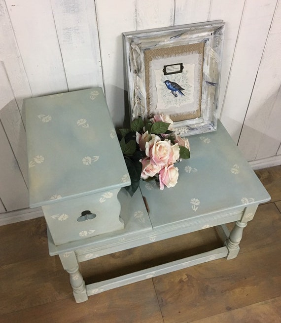 Miraculous Hand Painted Storage Bench Hall Seat Entryway Bench Duck Egg Blue Furniture Evergreenethics Interior Chair Design Evergreenethicsorg