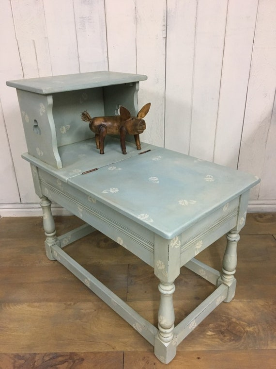 Stupendous Hand Painted Storage Bench Hall Seat Entryway Bench Duck Egg Blue Furniture Evergreenethics Interior Chair Design Evergreenethicsorg