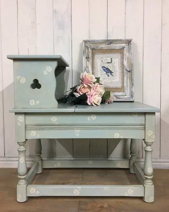 Magnificent Hand Painted Storage Bench Hall Seat Entryway Bench Duck Egg Blue Furniture Evergreenethics Interior Chair Design Evergreenethicsorg