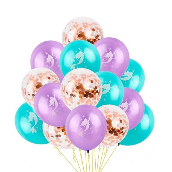 15pcs Latex Mermaid Balloons Confetti Balloon Wedding Festive Party Supplies