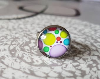 multipoint pink cabochon ring