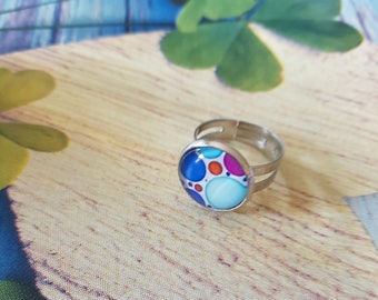multipoint blue cabochon ring