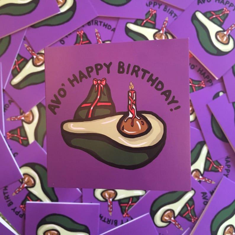 Avo Happy Birthday Avocado Card