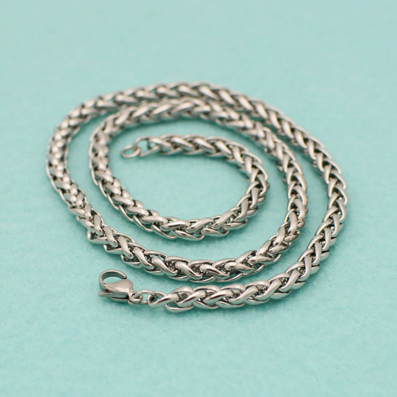 Men/'s Necklace No Allergic Stainless Steel Necklace for Men 5mm Stainless Chain Necklace for Men Stainless Necklace No Tarnish