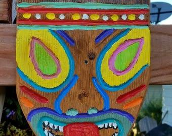 Tiki Head Plaque
