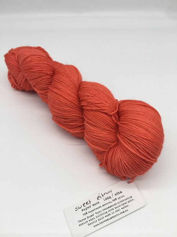 Sweet citrus - hand-dyed super sock yarn - 100g