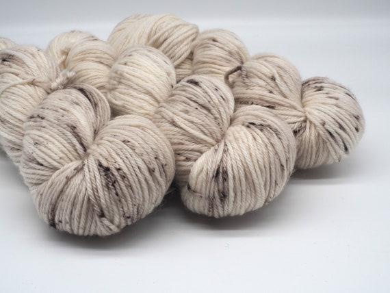 Mushroom hand-dyed superwash DK (8 ply) merino yarn - 100g (225m)