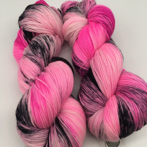 Acid flamingo - hand-dyed 4ply sock yarn - 100g