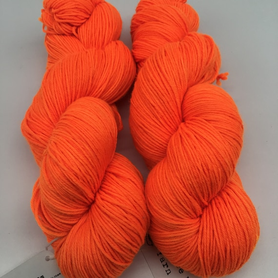 Traffic cone - hand-dyed 4ply sock yarn - 100g
