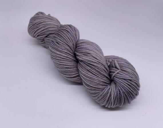 Asphalt - grey hand-dyed semi-solid superwash DK (8 ply) merino yarn - 100g (225m)