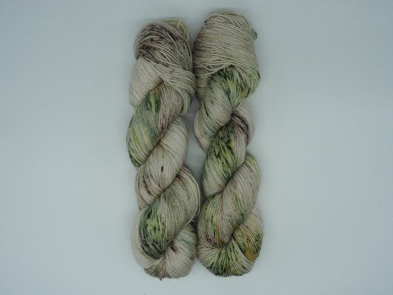 Forest - hand-dyed speckled merino cashmere silk yarn - 100g (400m)