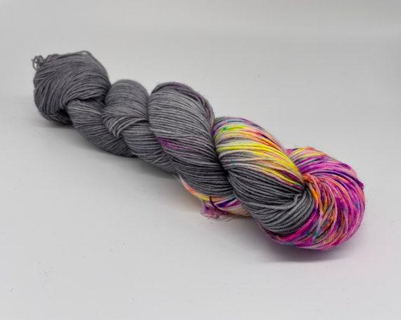 Confetti pop - hand-dyed micro-stripe neon speckle super sock yarn - 100g (425m)