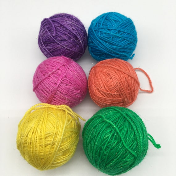 Rainbow unicorn sparkle sock yarn mini set - 6 x 33g mini skeins - 200g (800m) total