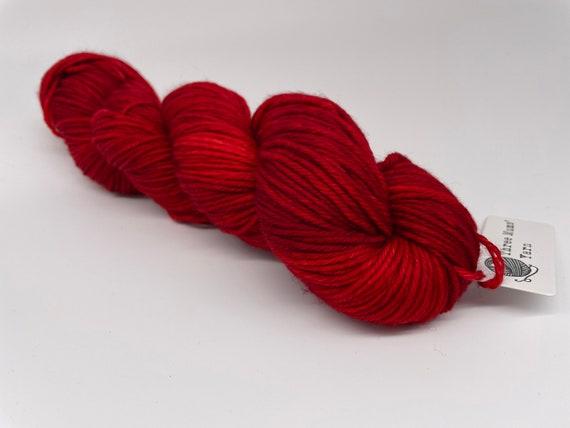 Red carpet treatment - tonal red hand-dyed semi-solid superwash DK (8 ply) merino yarn - 100g (225m)