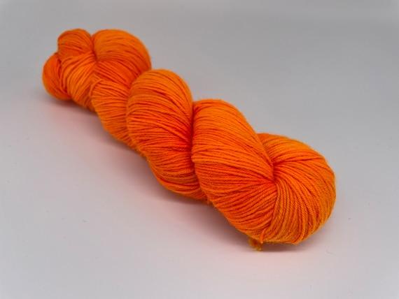 Traffic cone - hand-dyed fluorescent orange super sock yarn - 100g (425m)