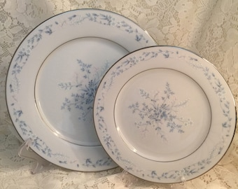 "Noritake Fine China - Carolyn 10.5"" Dinner and 8.25"" Salad Plate - Pair"