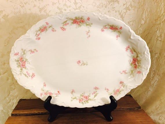 Habsburg China Mz Austrian Porcelain Large Oval Serving Etsy