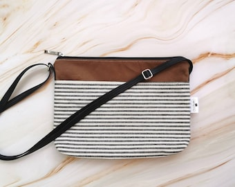 Black and white purse, faux leather, adjustable, hand bag, bag, accessory for woman, purse, handbag, crossbody bag, geometrical