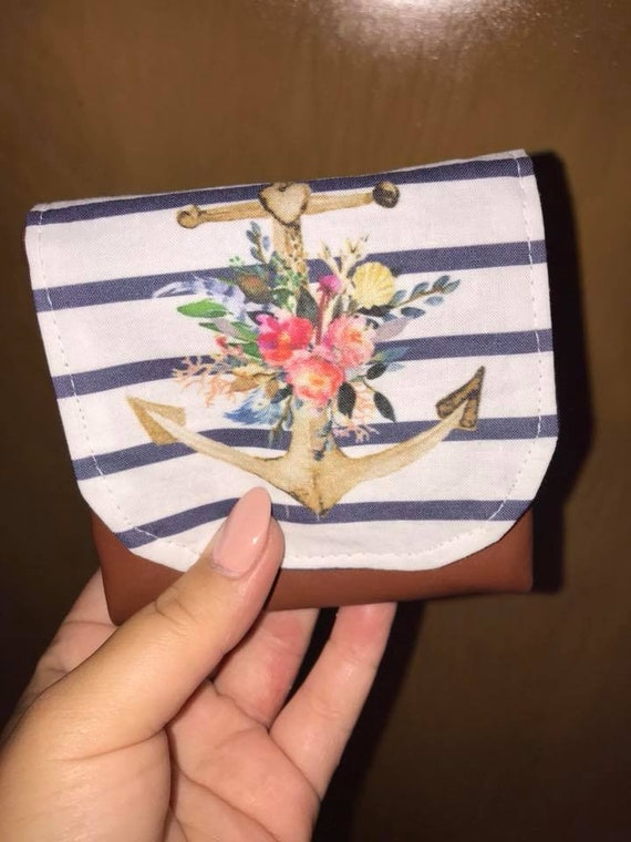 f5f556f5c0d Mini wallet classic purse card holder navy and white