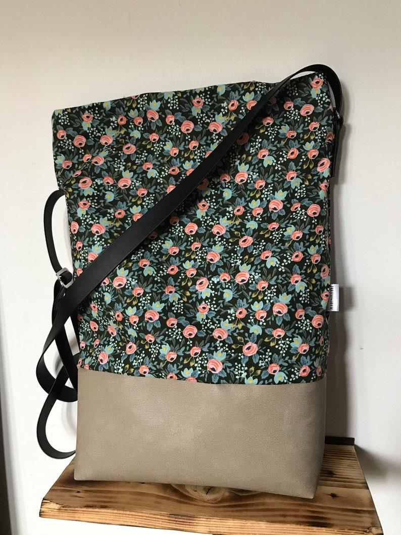 crossbody summer vegan colorful beach roses handbag cabas bag bag hand bag Flower purse red tote bag