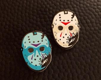 Horror Movie Mini Enamel Pin / Offbeat Tie Tack for Groom / Groomsman / Halloween Bouquet Charm or Boutonniere