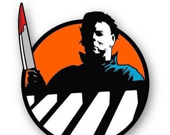 THE SHAPE - Halloween - Horror enamel pin - Orange