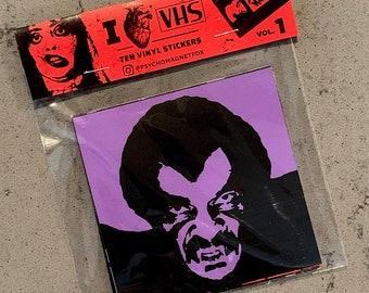 I Heart VHS Vol. 1 vinyl sticker pack (10 stickers)