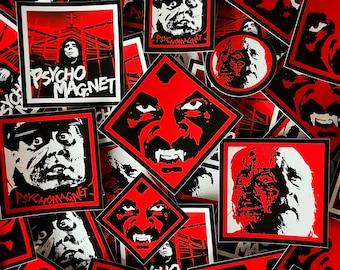 PsychoMagnet Horrific SLAPS sticker pack (12+ stickers)