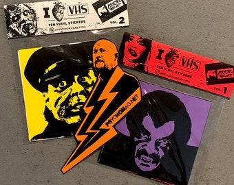 I Heart VHS Vol. 1 & 2 vinyl sticker packs (21 stickers)
