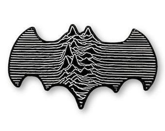 Batman-Inspired Pin- Joy Division-Inspired Cinema Music Mashup - Art of Butcher Billy Hard Enamel Pins