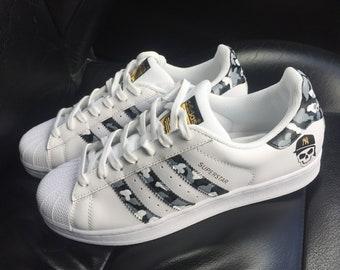 d7a45c7ea4f9 Custom Urban Camo Adidas Superstar Sneakers