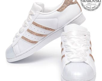 f5c66b57c35a Adidas Superstar Glossy Swarovski with Rose Gold Crystals
