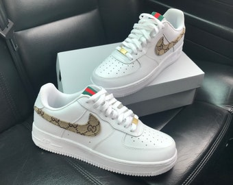 watch caca3 03bc7 Aangepaste Gucci Nike Air Force 1