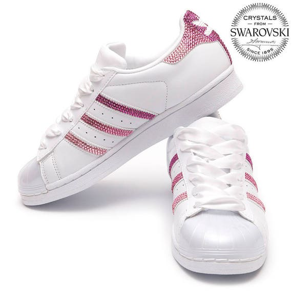 new concept 5f1f4 52e0c Adidas Superstar brillante Swarovski rosa DM V4  Etsy