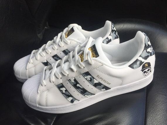 Custom Urban Camo Adidas Superstar Sneakers