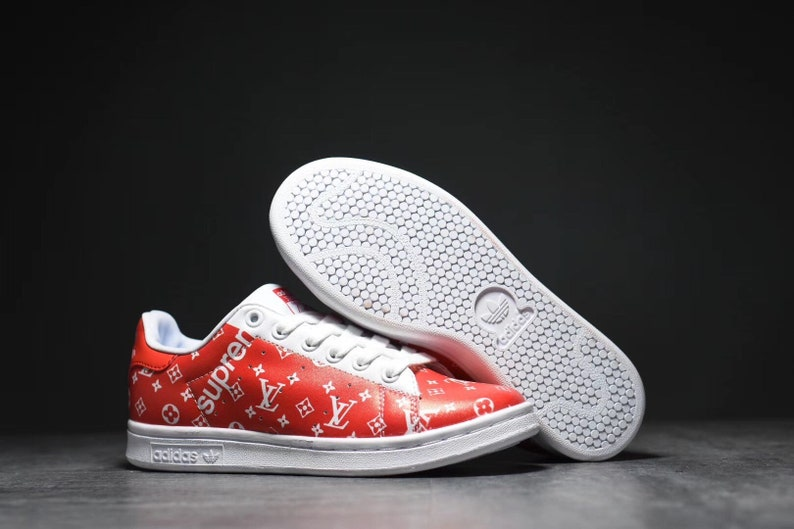 Custom Adidas Stan Smith Supreme x LV  86ce7271e