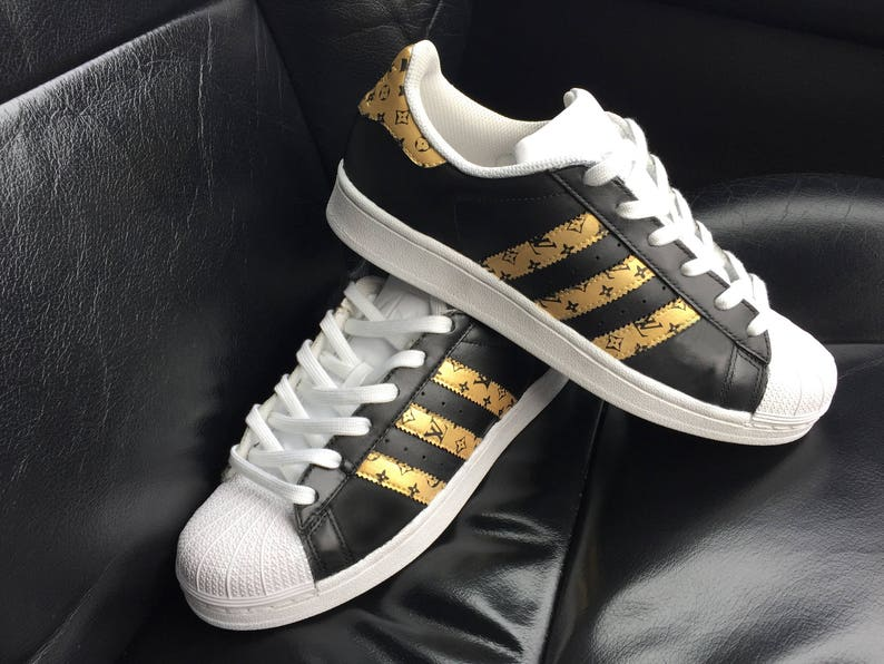Custom Louis Vuitton Adidas Superstar Sneakers  8677195fdc67
