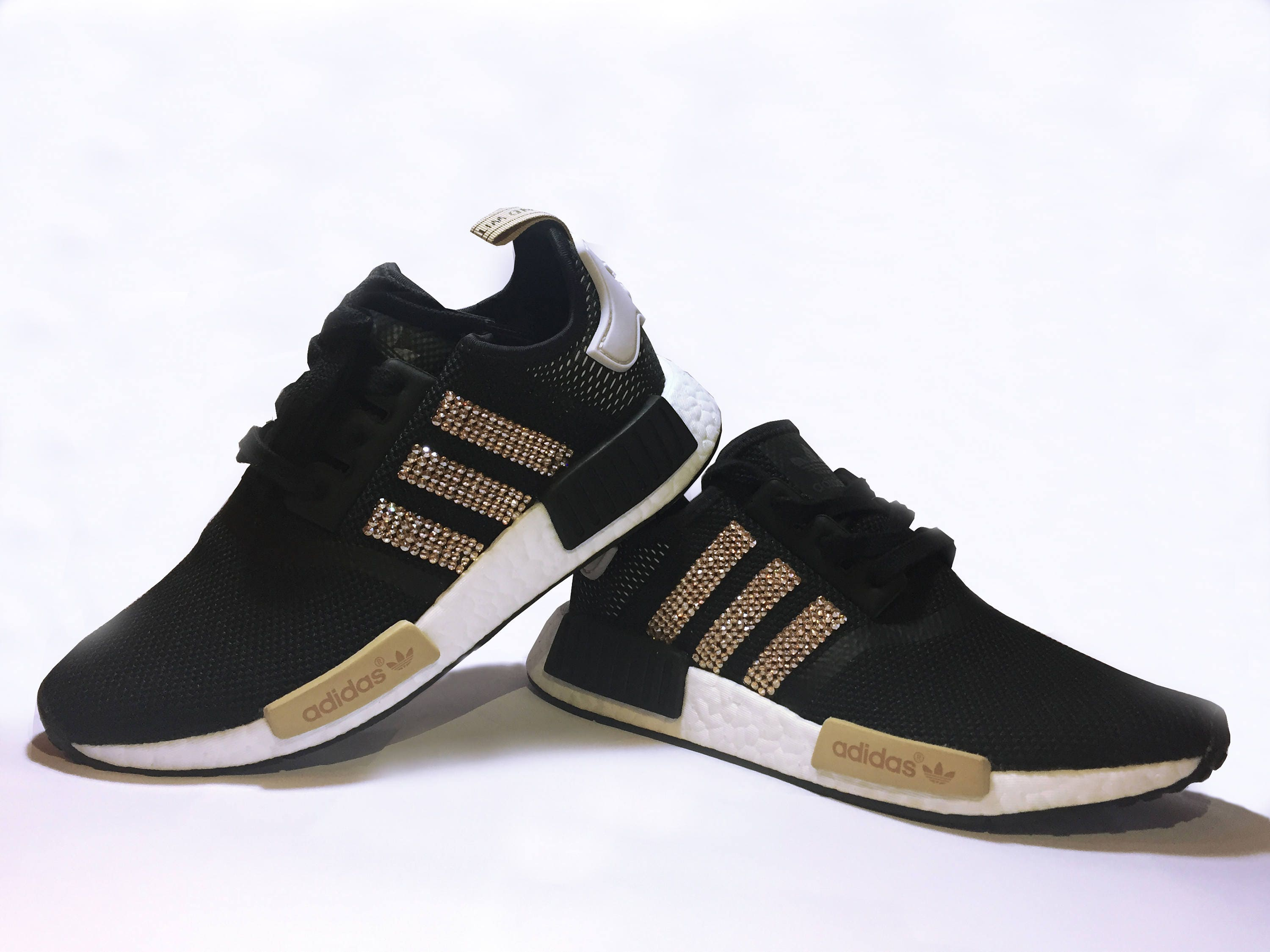 f340e2e70 Women s Adidas NMD Black Runner Casual Shoes Customized