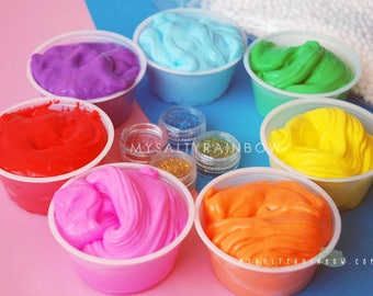 7 Slime Package with Extras Slime Bundle Pack Birthday Slime Party Favour Slime Pack