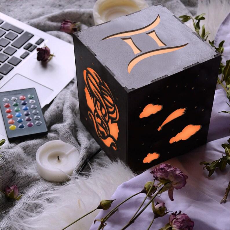 Gemini Zodiac Sign Led Lamp Horoscope Birthday