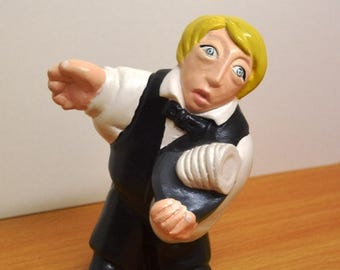 Statuette of crafts. Waiter.