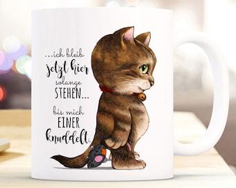 Emaille Becher Tasse Campingbecher Katze /& Spruch NEIN Kaffeebecher eb100