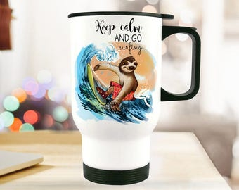 Thermo Cup sloth surfers keep calm TB77