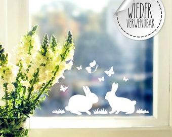Elas Fensterbilder Blumen Tulpen mit Schmetterlinge Schöne Frühlings