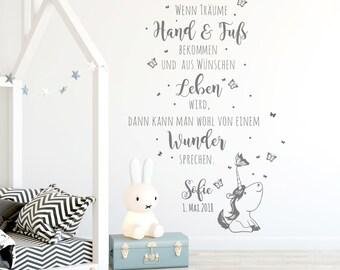 Wandtattoo Spruch Baby Zimmer Geschenk Geburt 2339