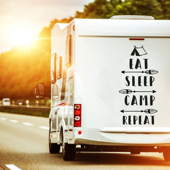 Label camping RV manger dormir camp M2377