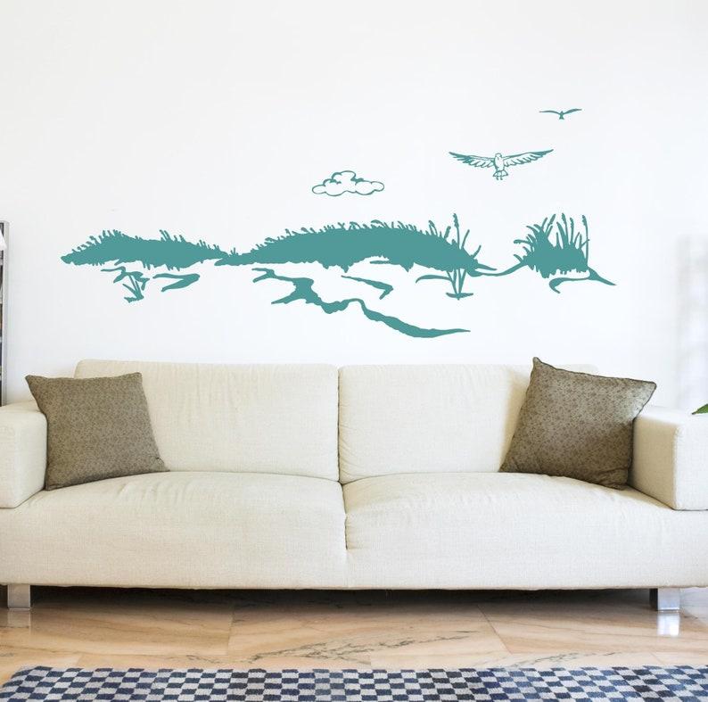 Wall Decal Dune Sea Seagull Maritim M1531 Etsy