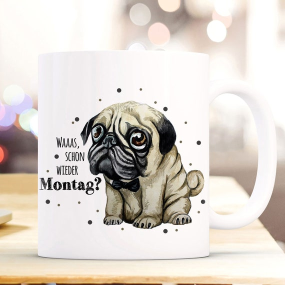 TASSE Kaffeetasse Mops Hund 3