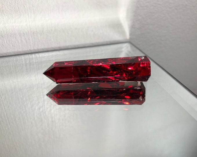 Ruby Aura Glitter Crystal Tower