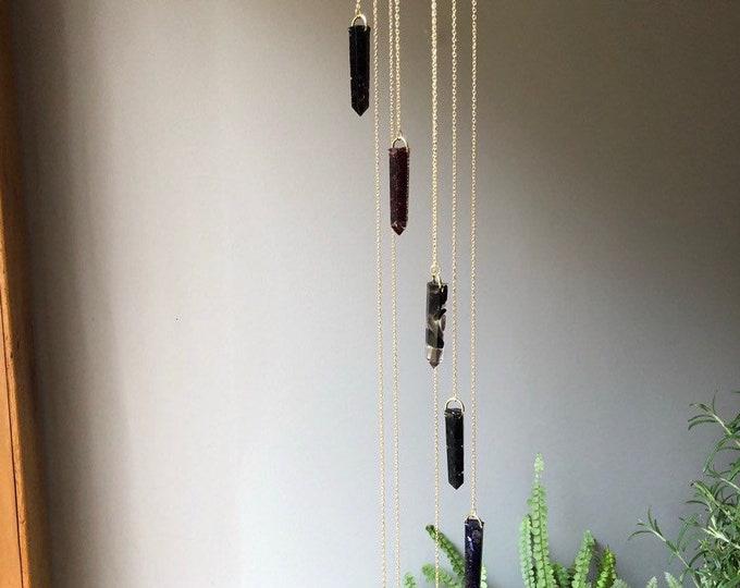 Hanging Crystal Mobile Globe Terrarium & Incense Burner 3